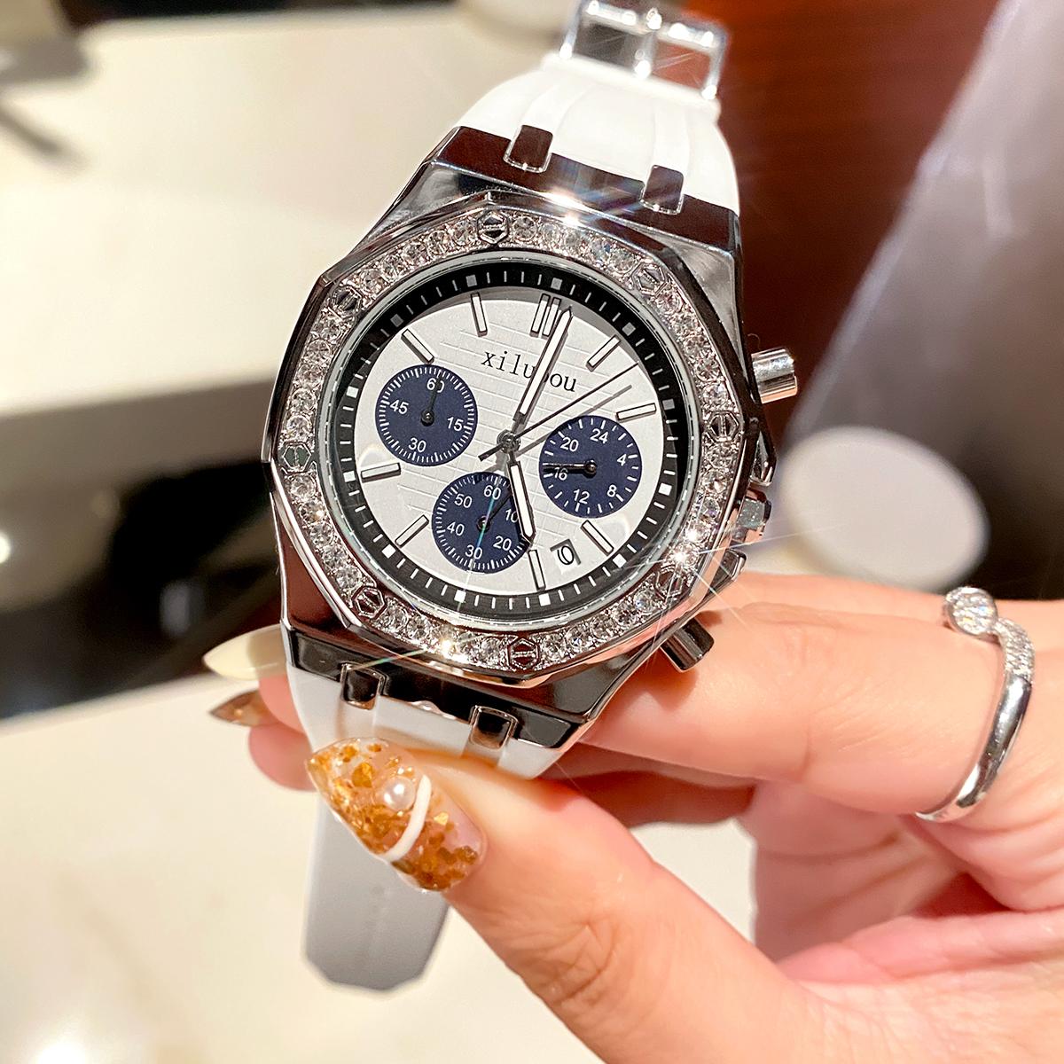 希洛欧ap皇家橡树手表女高级感女士女款轻奢品牌名牌2021年新款表