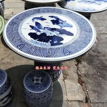 景德镇陶瓷桌子凳子套装手绘连年有余户外庭院桌椅1桌4凳圆桌一米