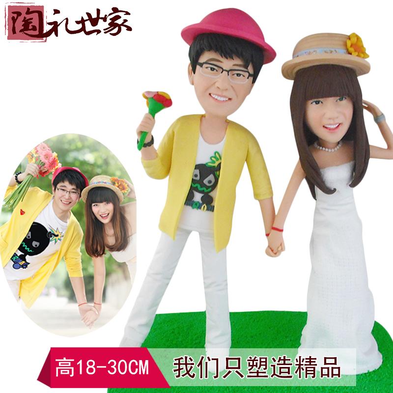 Клей настоящие мягкие глиняные куклы пользовательские куклы грязи кукла восковая кукла глины DIY фото пользовательский подарок, чтобы сделать