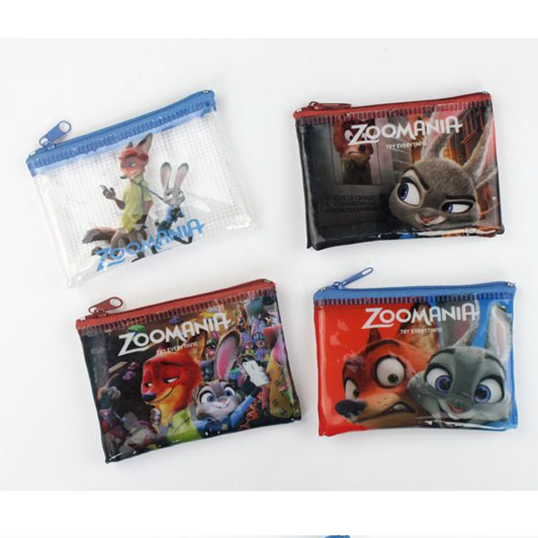 Crazy animal town Mini mesh Zipper Wallet / Wallet / Coin Bag / storage bag