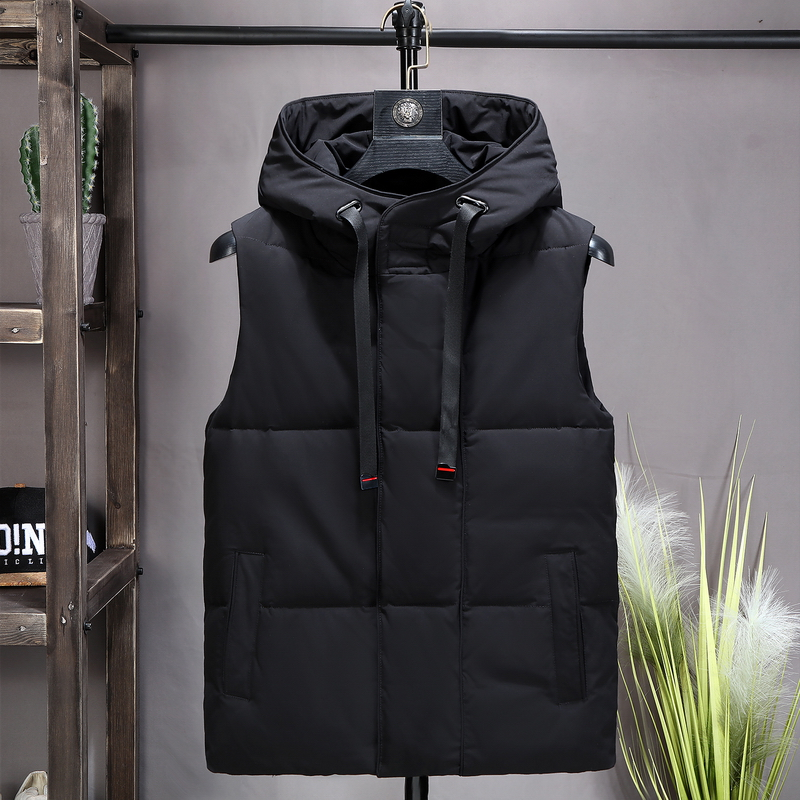 2020 new down cotton waistcoat for mens autumn and winter thickened large Korean shoulder vest sleeveless jacket jacket