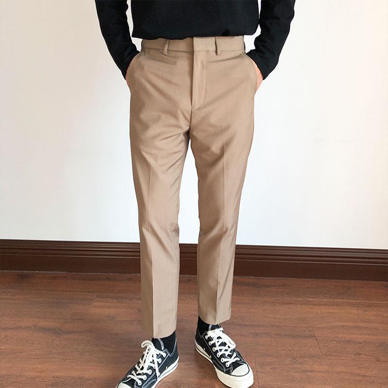 2020新品李绍铭男装春季商务韩版潮流裤子灰色套西西裤休闲裤男士