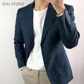 李绍铭秋季新品修身商务休闲西服男式外衣帅气西装外套绅士上衣潮