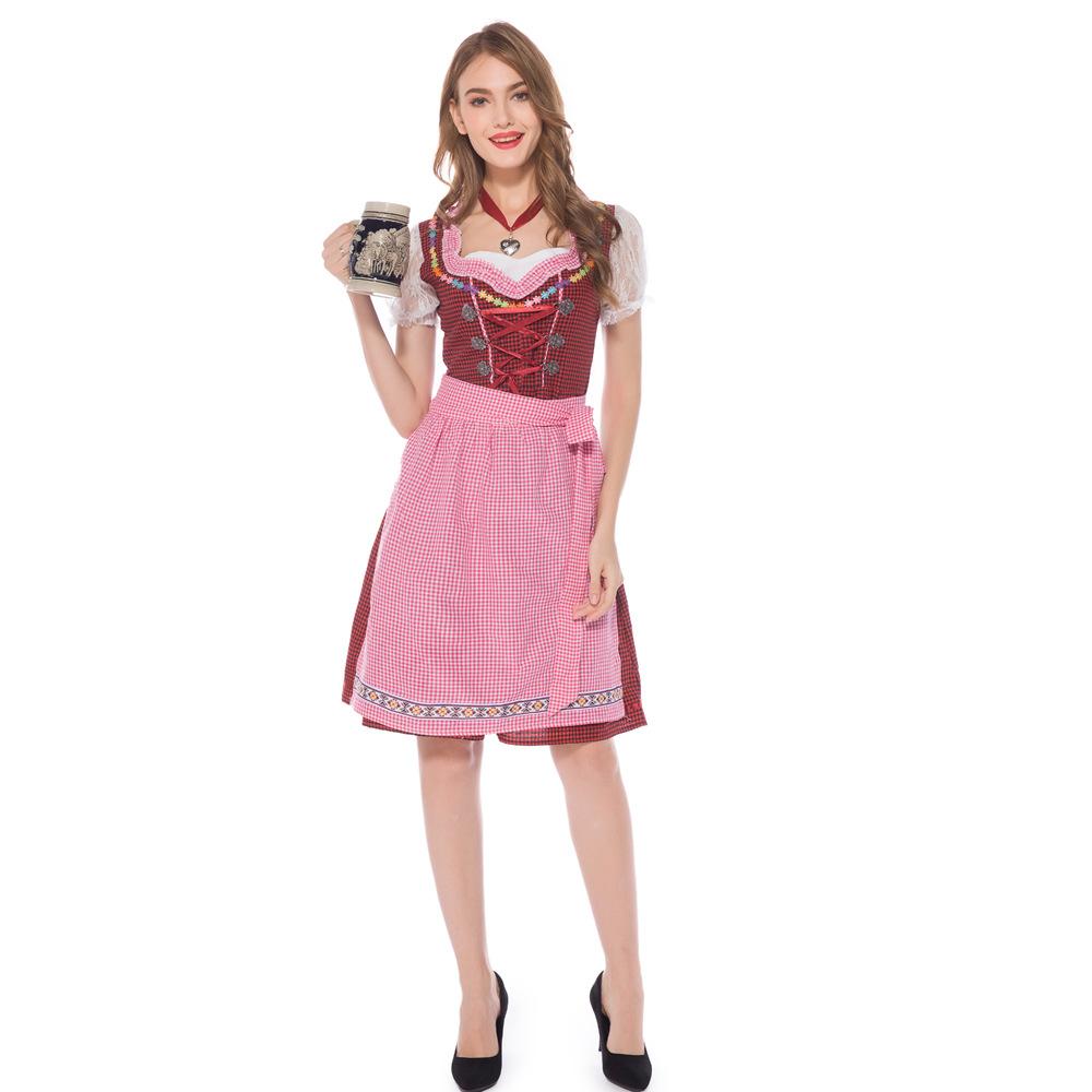 啤酒节服装欧美游戏制服角色扮演啤酒妹餐厅服务生佣服装演出服女