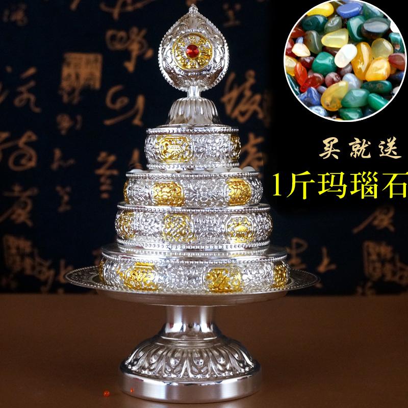 Тибетский буддизм Тантра для рельефа сплава Будды Восемь благоприятных манча Романская плита Труба бесплатная доставка по китаю серебряный Сжимает плиту грациозно