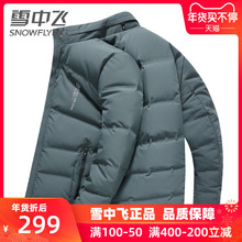 Men's Down Garment in Snow, Men's Short-style Collar Warm Fashion, Business Leisure, Winter Coat Thickening Top Tide