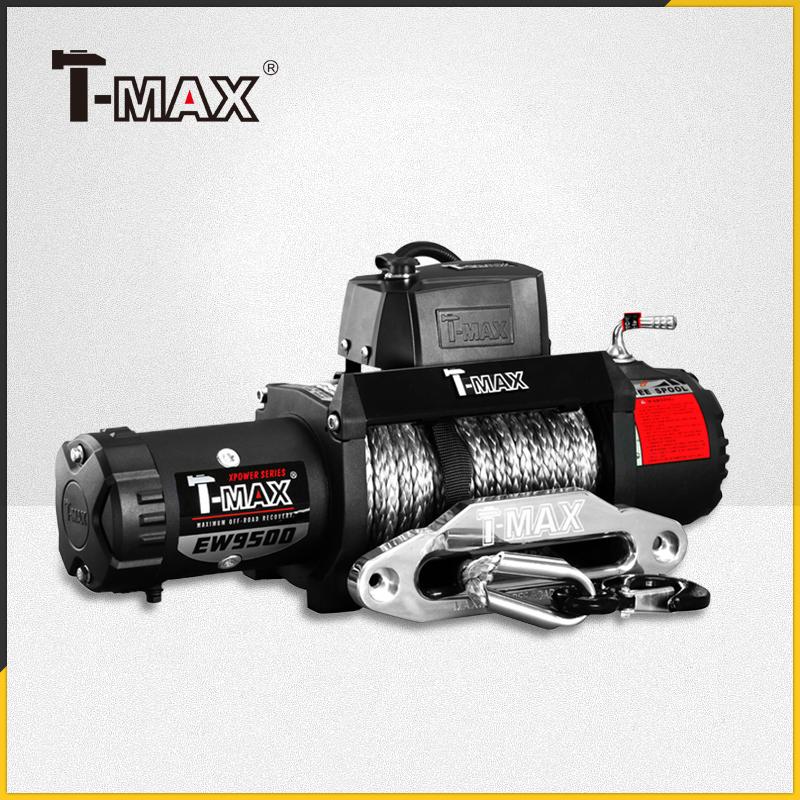 天铭T-MAX 越野车专用12v电动绞盘H9防水BJ40PLUS越野无线绞盘