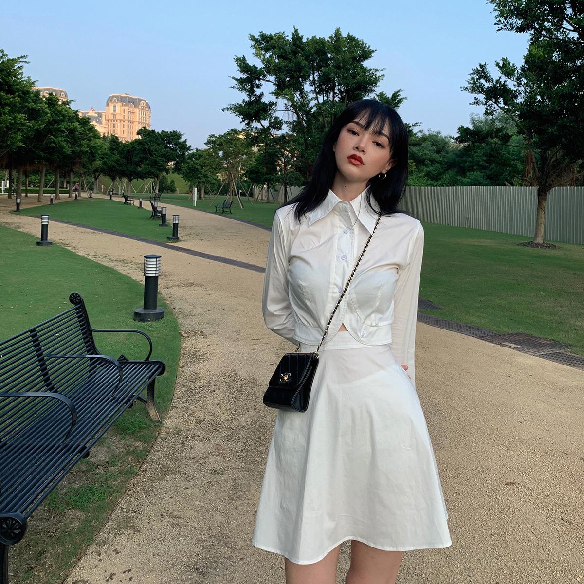lienni2019秋季新款高冷系气质衬衫