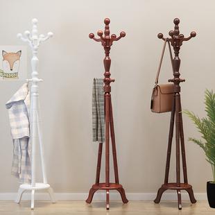 门厅衣服架办公室立式 依朵木质衣帽架实木落地挂衣架欧式 玄关架子