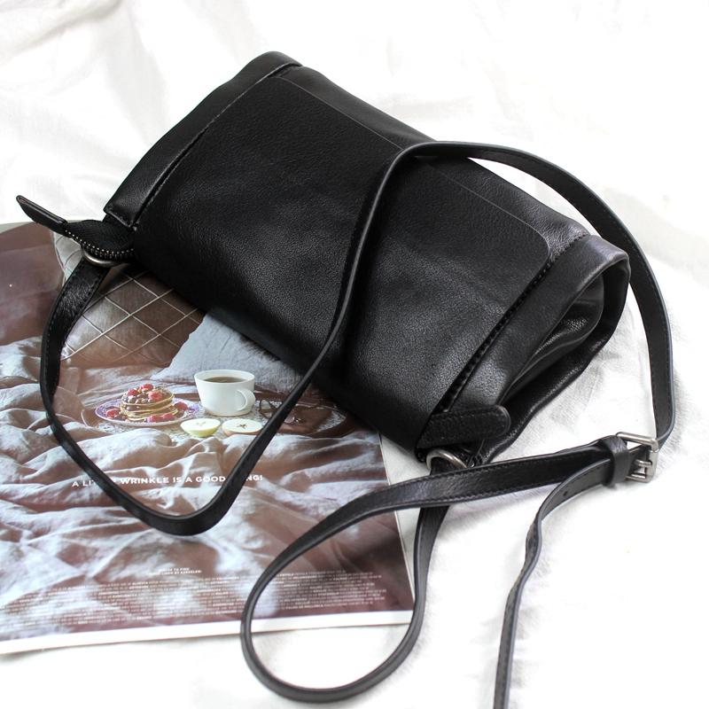 包包女斜挎软皮包真皮休闲女包小巧可爱洋气头层牛皮单肩纯皮小包图片