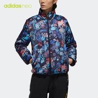 阿迪达斯官网adidas neo W PAD JKT女装冬季短款棉服DZ7593DZ7594