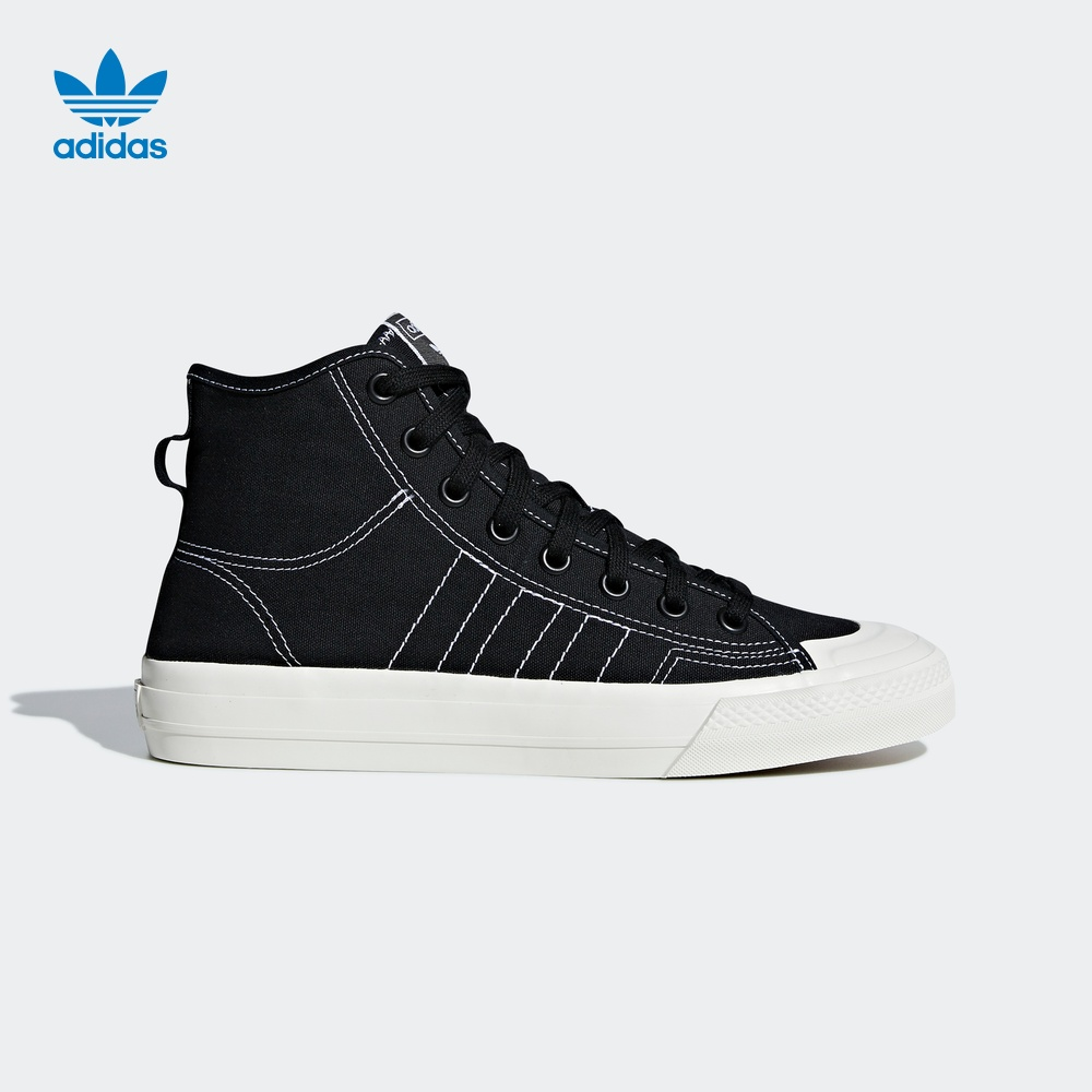 Adidas official website adidas clover NIZZA HI RF men's and women's high-top classic sneakers F34057