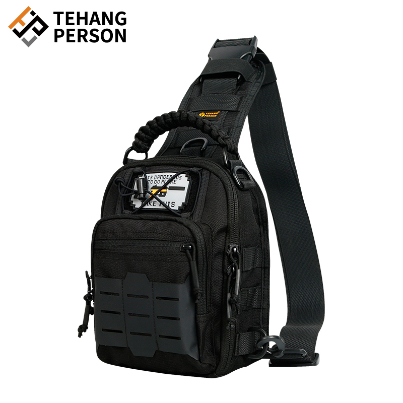 Outdoor multi-functional tactical chest bag mens camouflage tactical one shoulder backpack messenger bag army fan sports riding waterproof
