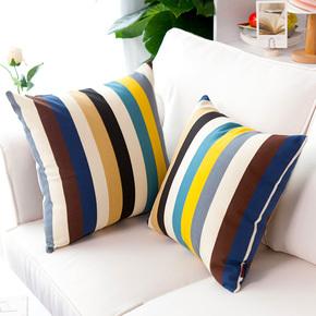 沙发靠垫正方形抱枕50x50皮不含芯套客厅靠背大靠枕罩纯棉套子45