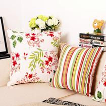 沙发靠垫抱枕套45x45纯棉皮靠枕套子50x50不含芯靠背客厅大外套方