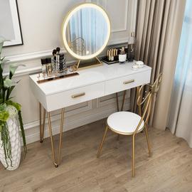 北欧梳妆台网红ins卧室现代简约轻奢小户型抖音化妆桌钢琴化妆台图片
