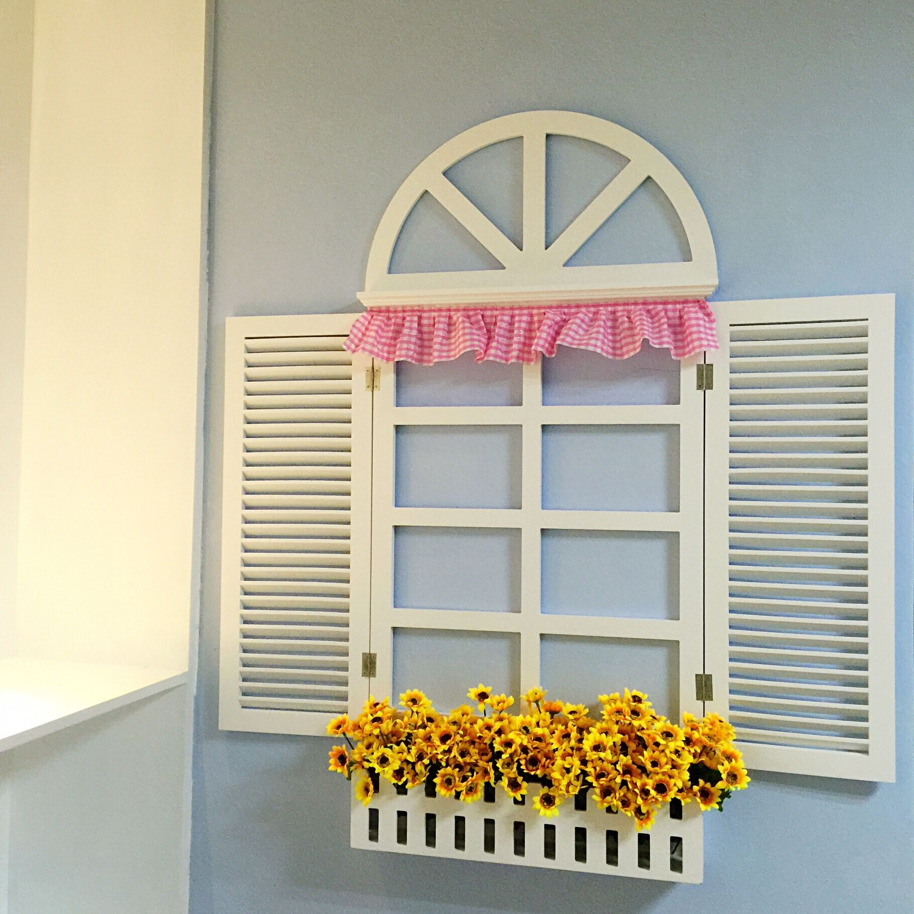 欧式假窗户壁挂地中海风格假窗田园墙面壁饰装饰创意ins北欧家居