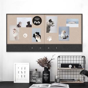 寻止留言板打孔作品展示墙板软木板
