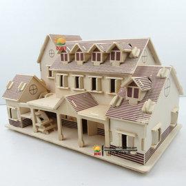 房屋模型小房子木质diy小屋手工制作礼物拼装古风建筑小别墅玩具图片