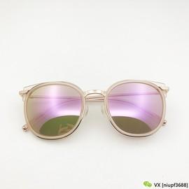 出口韩国女士太阳镜Julie防紫外线驾驶眼镜镀膜粉色carin潮款墨镜图片