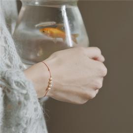 芭洛克 天然淡水随形珍珠文艺气质14k金礼物巨细仙复古轻奢女手绳