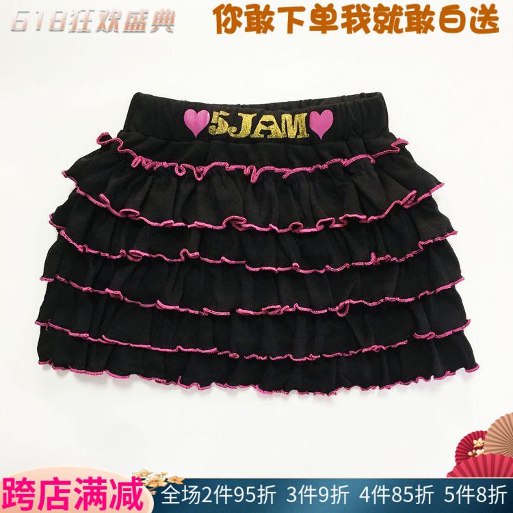 日本潮牌5JAM女孩半身裙儿童百褶裙春夏洋气辣妹蛋糕裙短裙童装