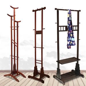 红木衣架落地家用新中式榫卯稳固挂大衣架卧室收纳衣服实木衣帽架