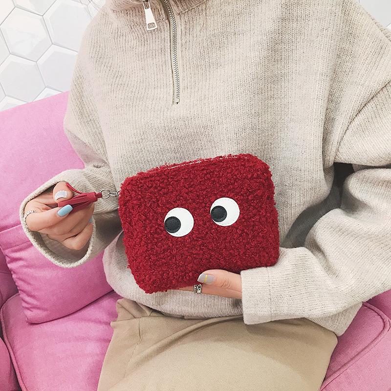 化妆包女ins风超火小号网红可爱口红包便携简约收纳袋随身大容量