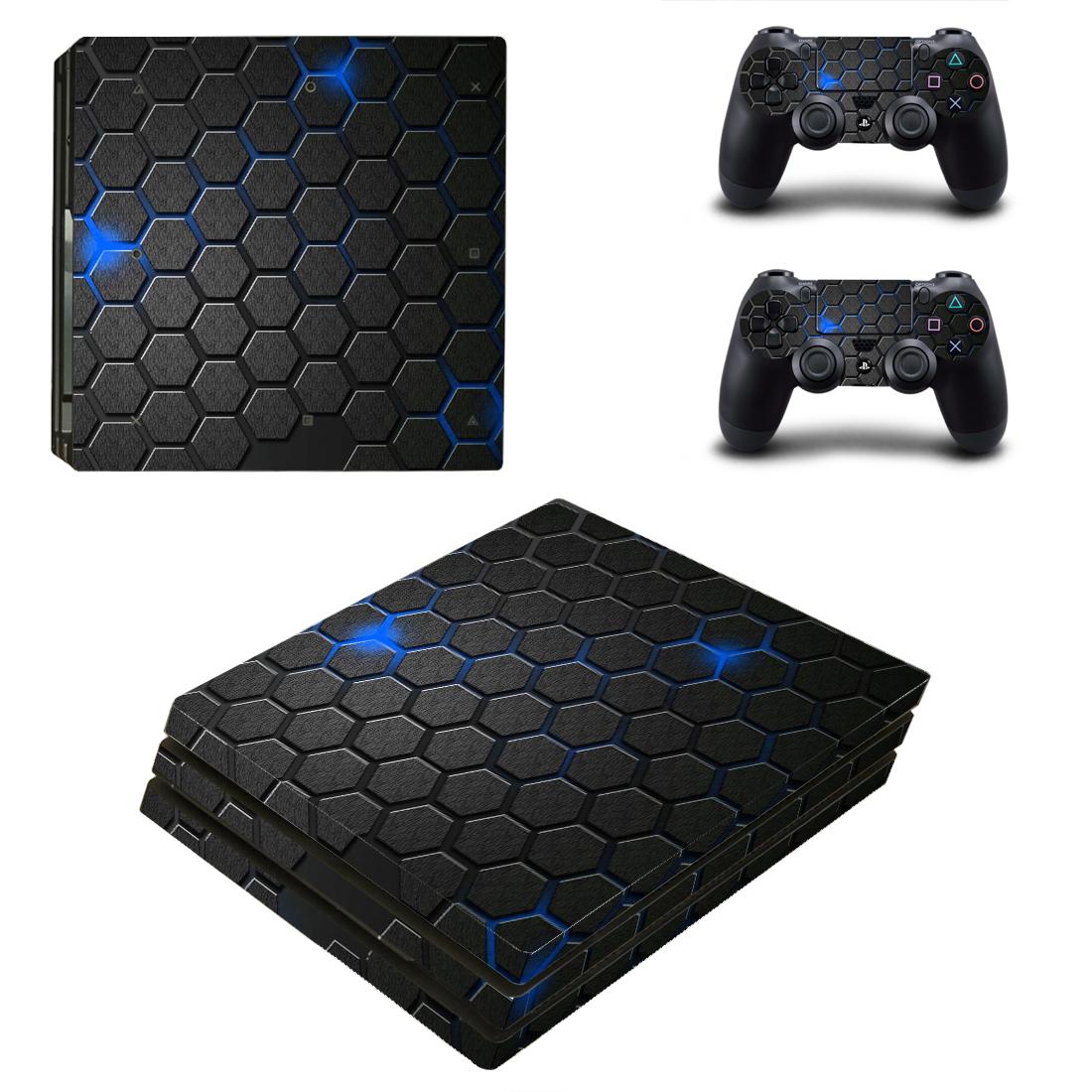 PS4PRO机身贴纸PS4防刮防水防尘动漫彩图PS4pro静电贴送摇杆帽70
