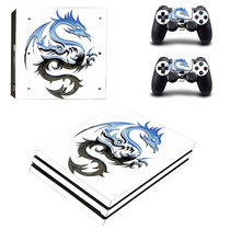 Ps4pro Body Sticker PS4 anti-scratch waterproof dustproof anime color map Ps4pro Electrostatic sticker Rocker Cap 90