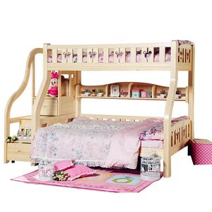 迪士尼全实木儿童家具儿童床带护栏子母床双层床松木高低床上下床