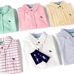 包邮童装学生白衬衫男童牛津长袖衬衫中大童纯棉短袖衬衣100-170