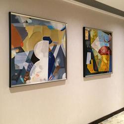 四合艺术抽象art deco纯客厅装饰画
