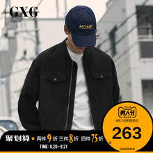 GXG Men's Wear 2009 Spring and Autumn Hot Jacket Men's Korean Edition Fashion Black Workwear Men's Baseball Coat