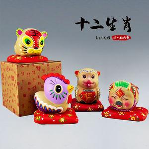 天津泥人张彩塑十二生肖纪念品生日礼物特色中国风摆件泥塑装饰品