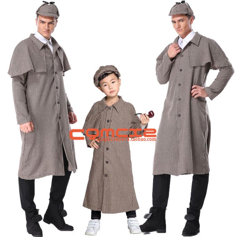ハロウィンCosplayシャーロックホームズの親子用キャラクターを舞台にした衣装を披露しました。