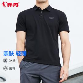 乔丹男装短袖t恤男2020夏季新款翻领透气男士休闲polo衫运动上衣图片