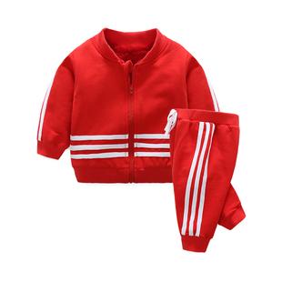 嬰兒衣服0歲1男童3秋冬裝3寶寶4加絨5加厚保暖打底衫套裝夏裝女童