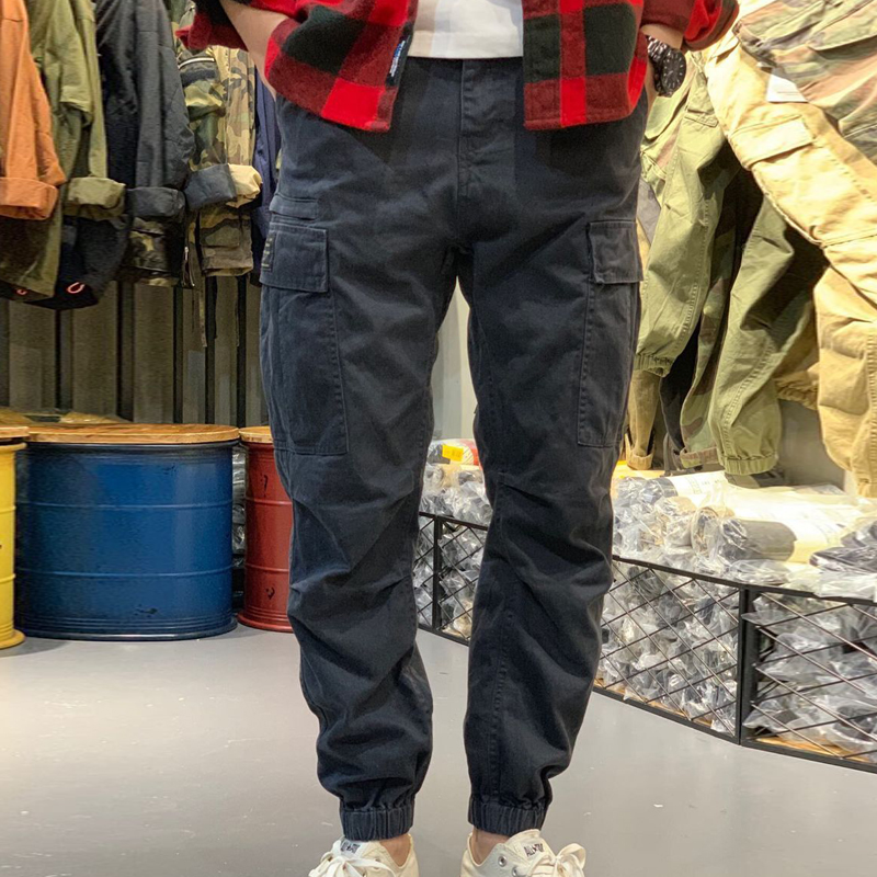 Spring fashion brand Yu wenle corset camouflage overalls mens loose trend versatile casual pants Japanese