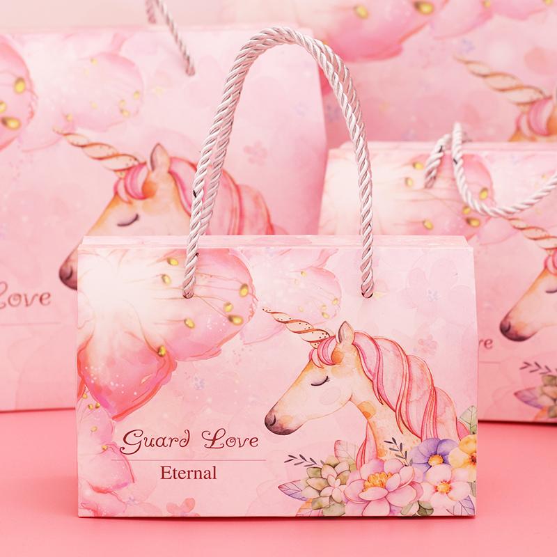 宝宝满月喜糖盒喜蛋包装盒子空礼盒装手提袋生日抓周回礼大礼包