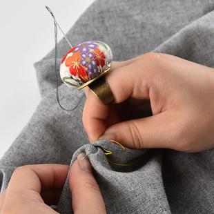 既来姿 和风复古戒指针插包针线包针扎十字绣工具针收纳diy布艺针
