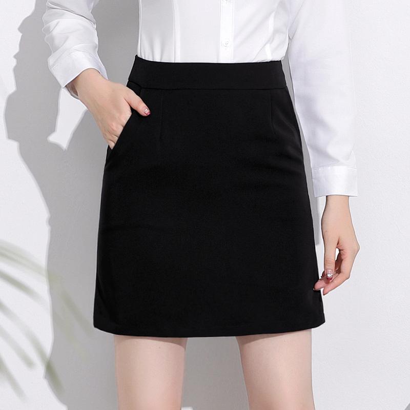 新款黑色高腰西装一步裙正装工作半身裙子夏季a字短裙西裙职业群