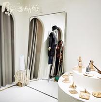 镜子姑娘高档落地家用不锈钢美发店全身试衣镜服装店显瘦美白镜子