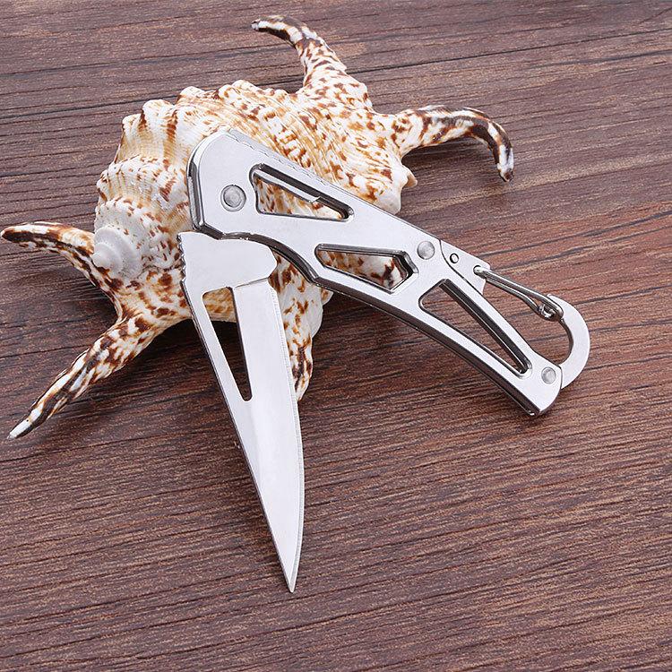 开刃锋利随身小刀折叠不锈钢户外高硬度军刀野外特战钥匙扣水果刀