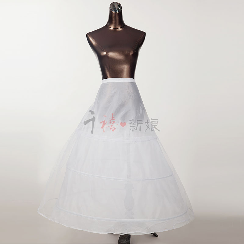 @@Bride 2020 new 3-ring bridal dress with supporting petticoat accessories bridal dress lining short supporting petticoat