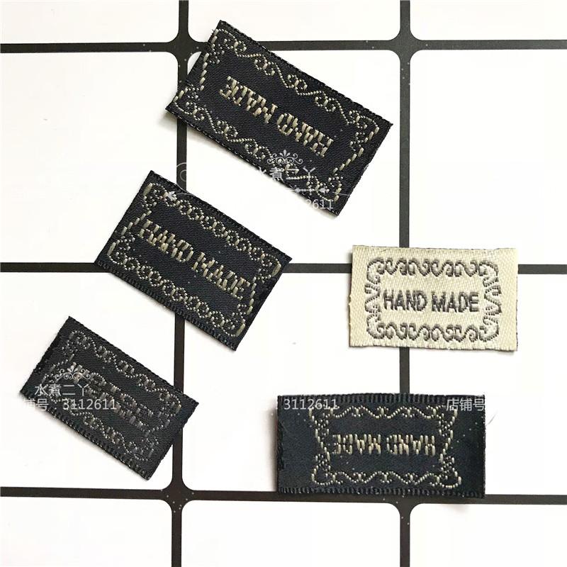 hand made背标标牌 手工DIY蝴蝶结发饰发夹材料配件 专用标签  L1