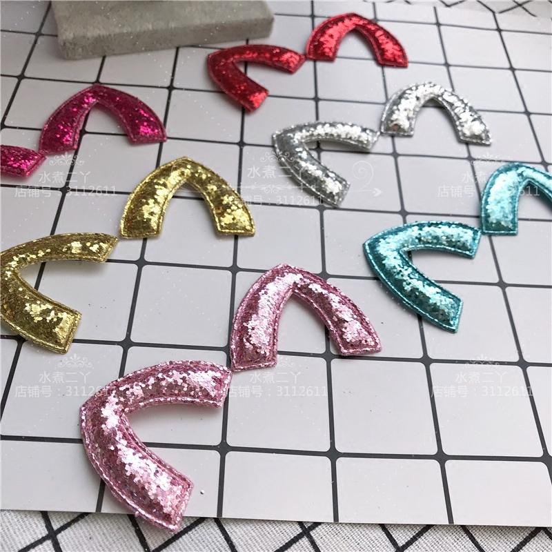 亮片闪粉猫耳朵发饰品DIY手工制作蝴蝶结发绳材料包配件C23 C24