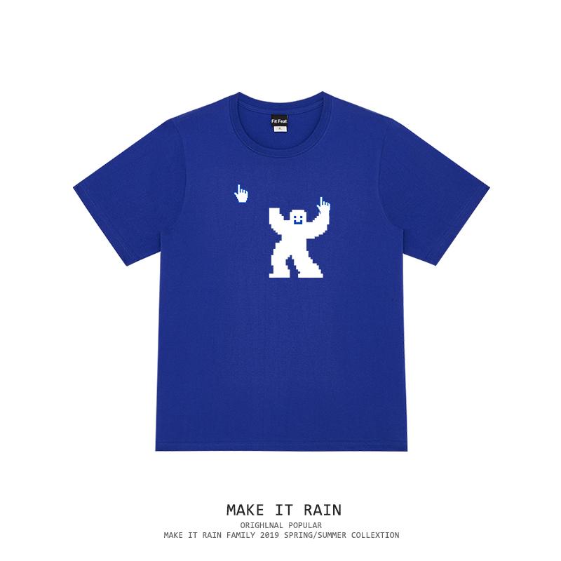 鼠标指针奇怪动物男女同款ins夏季oversize学生宽松bf个性短袖T恤 thumbnail