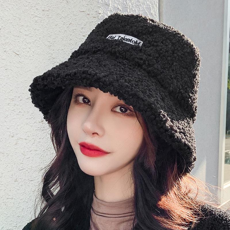 【主播强力推荐必买】渔夫帽网红款冬季羊羔毛帽子
