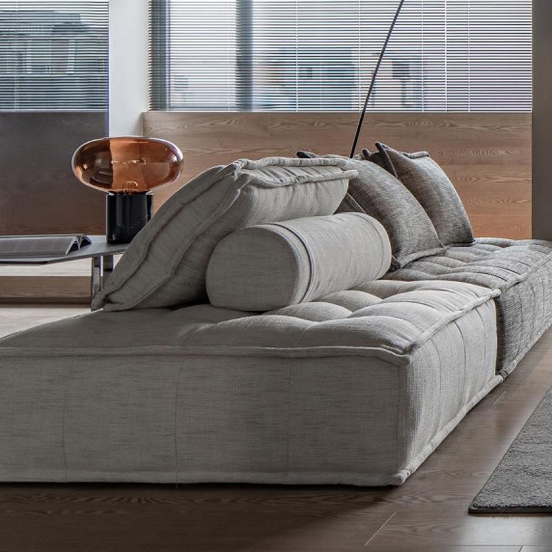 北欧工业风皮埃蒙特布艺沙发四方块豆腐块设计师自由组合模块沙发